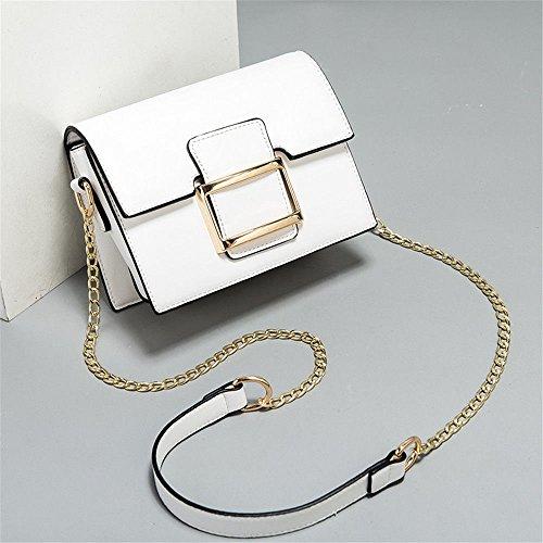 SJMMBB Chica Bag Mini Cadena Única Bolsa Bolso,Blanca,20X15X9Cm. Blanco