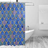 Best Royal bathroom scales - ZOEO Shower Curtain Backdrop Royal Blue Mermaid Scales Review