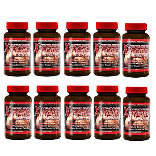 Maritzmayer Lab Nitric Oxide Xtreme Muscle Growth Supplement 90 Capsules 12 Bottles (10 Bottles)