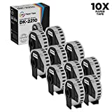 LD © Compatible Brother DK-2210 10 Rolls of White Label Tape / 1.1 in x 100 ft