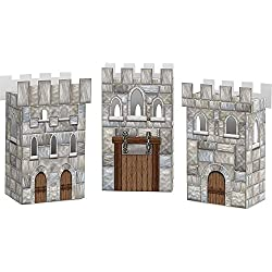 Medieval Castle Favor Boxes (Set Of 3) - Party Supplies