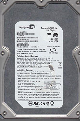 ST3320620A, 4QF, TK, PN 9BJ04G-300, FW 3.AAC, Seagate 320GB IDE 3.5 Hard Drive