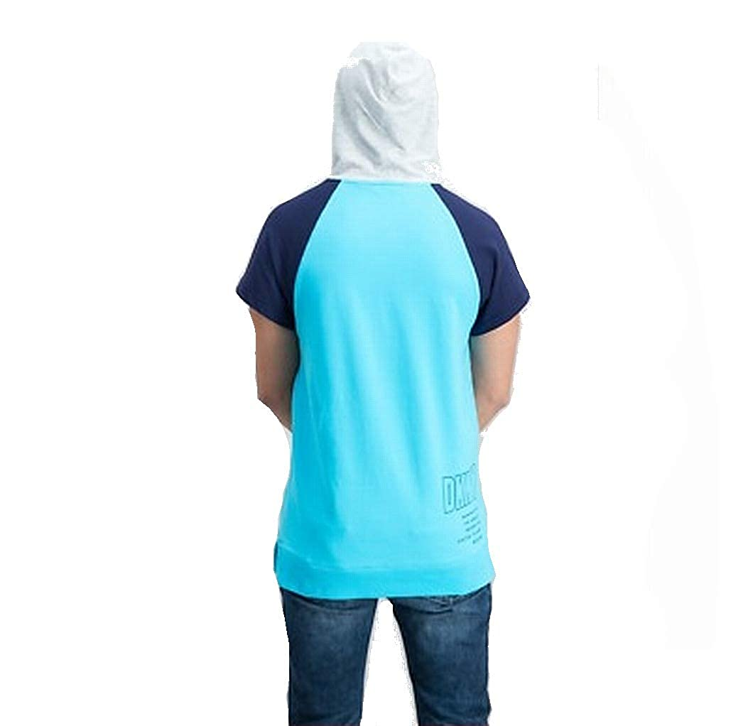 DKNY Atoll Mens Small Sport Colorblock Hooded Shirt