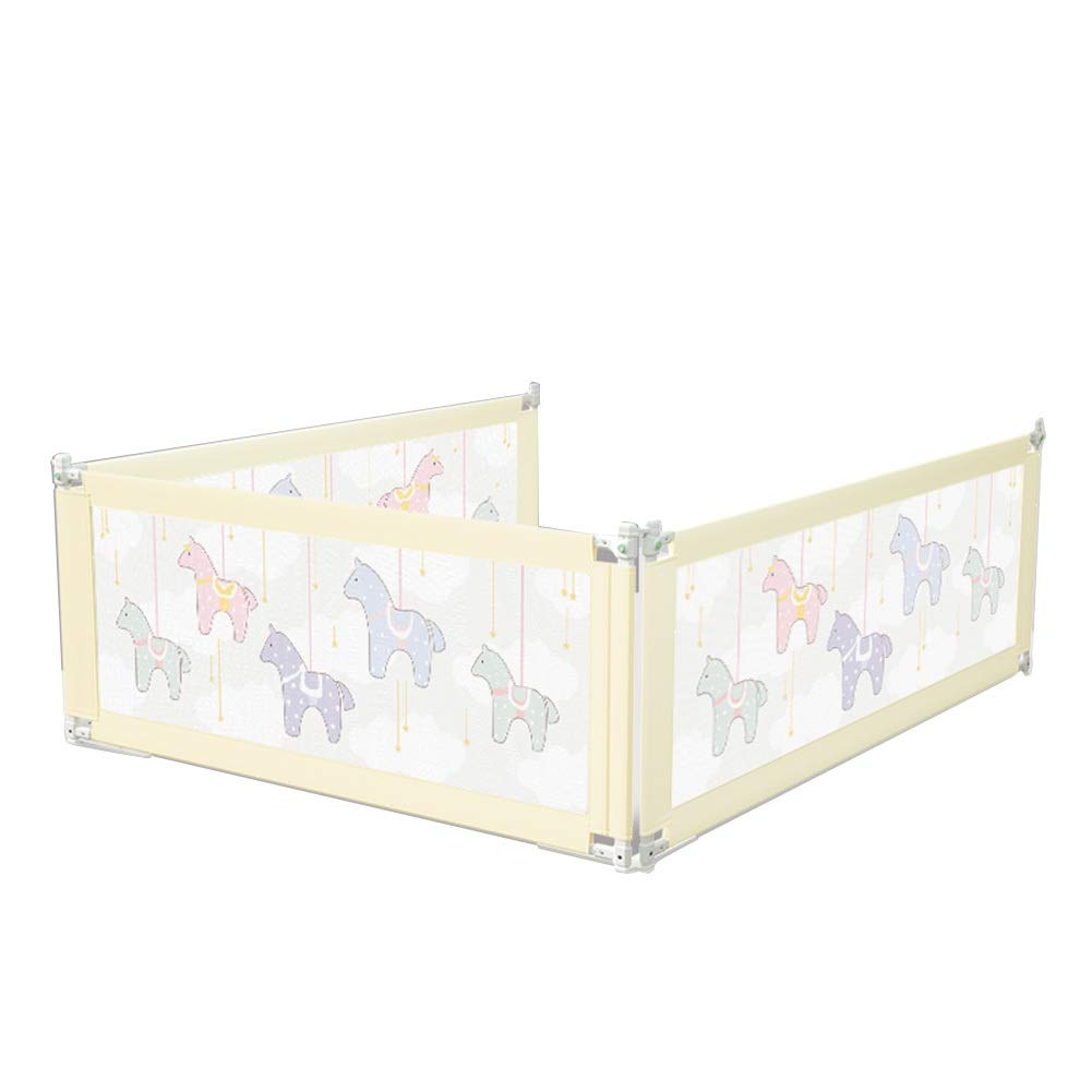 QIANDA-Bedrail for Toddlers Extra Long Baby Bed Rail Guard for Full Size Queen & King Mattress - 4 Colors (Color : D, Size : 2m+2m+2m)