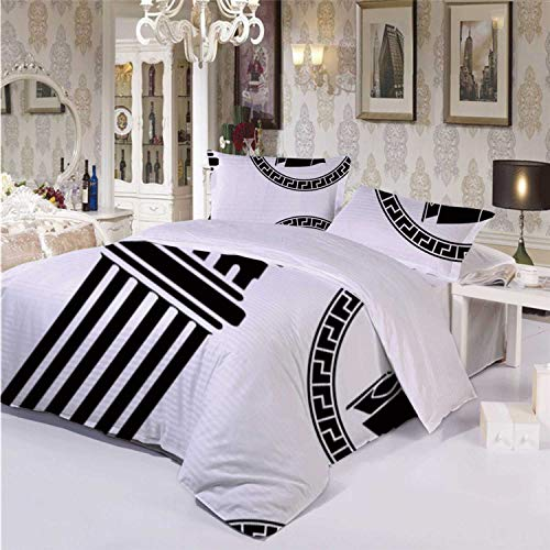 Toga Party Durable 3 Piece Bedding Set,Patterned