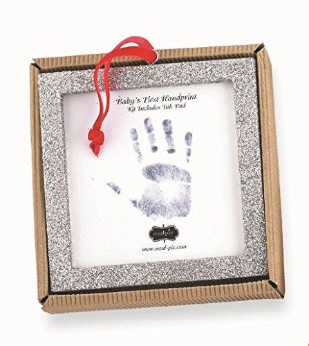 Mud Pie Glitter Handprint Square