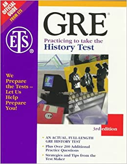 Book Gre History Ed: History Test