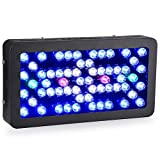 Ledgle Led Aquarium Light Dimmable 300W Reef Aquarium Led Lighting Full Spectrum with Crystal Lens for Fish Tank/ Coral Reef Growing