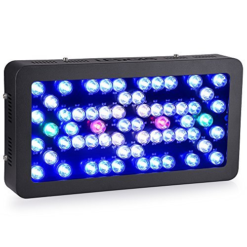 Ledgle Led Aquarium Light Dimmable 300W Reef Aquarium Led Lighting Full Spectrum with Crystal Lens for Fish Tank/ Coral Reef Growing by Ledgle