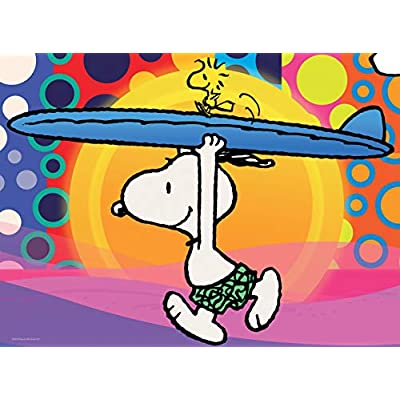 Peanuts Surf City Jigsaw Puzzle, 100 Pieces: Toys & Games
