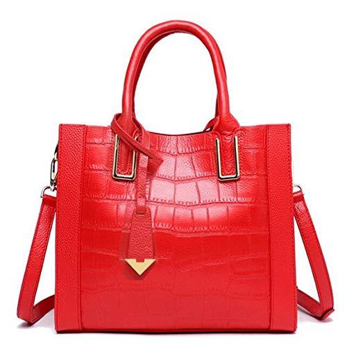 Zhwei Madame 24 Ns3451 5 Casual Carrée Grand Mode La Messenger Rouge Élégant Pu 28 Cm Tendance 12 Sac Sac Bandoulière Sac à Femme Petite De rrqxAw