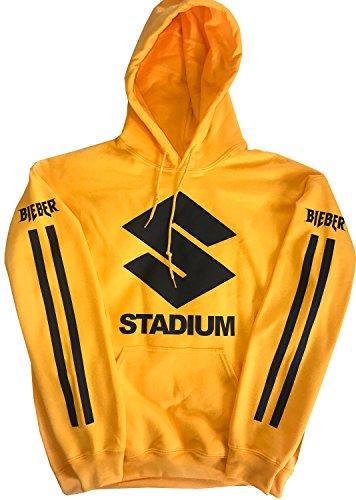 ef00f1e3290d Identity Purpose Tour Stadium Tour Hoodie Yellow New Justin Bieber Merch