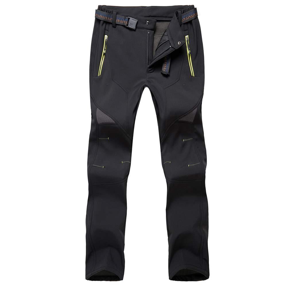 GooDoi Pantalones con Forro de vell/ón Softshell para Hombre Pantalones de Senderismo para Hombres al Aire Libre Pantalones de Pesca para Escalada de Invierno c/álido para Caminar