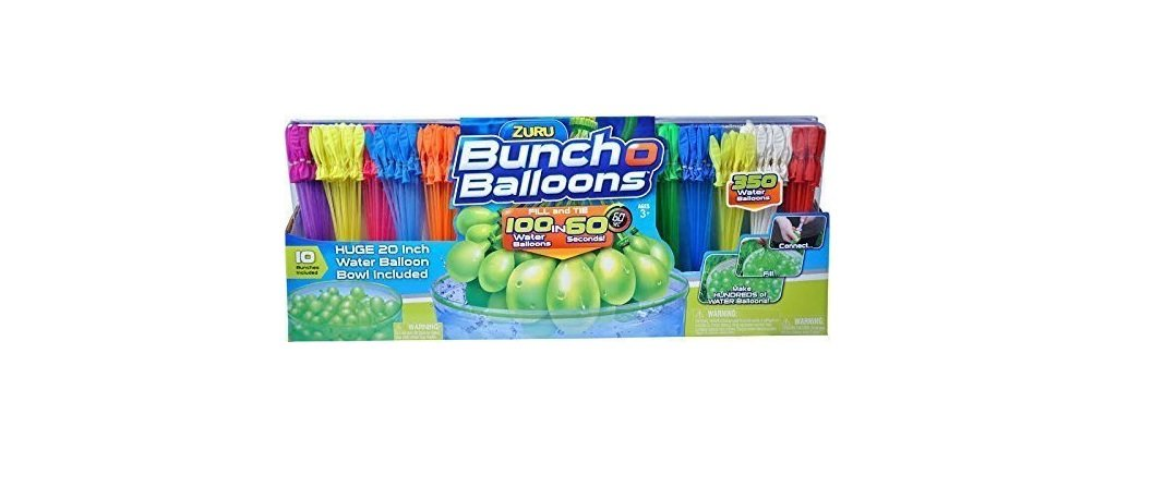 ZURU iglLTl Bunch O Balloons, Fill in 60 Seconds, 4Pack of 350 Balloons by Zuru
