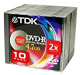 TDK DVD-R Media 4.7GB for Data- General Use 10 Pack (non-authoring)