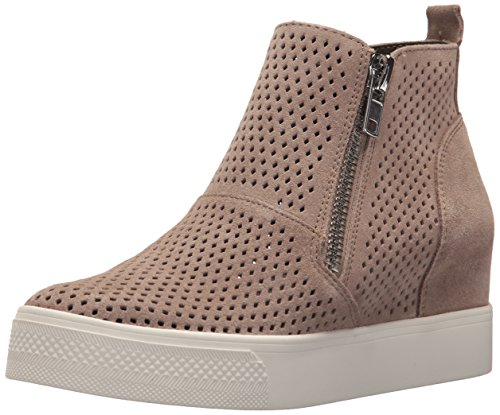 (Steve Madden Women's Wedgie-P Sneaker, Taupe Suede, 8 M US )