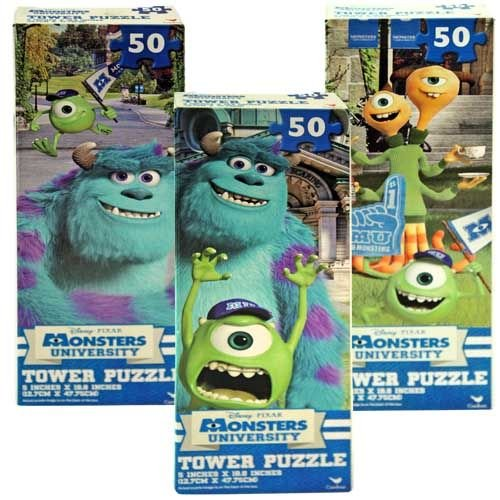 Disney Monsters University Tower Puzzle, Assorted (3 Puzzles) (50-Piece) (University Tower)