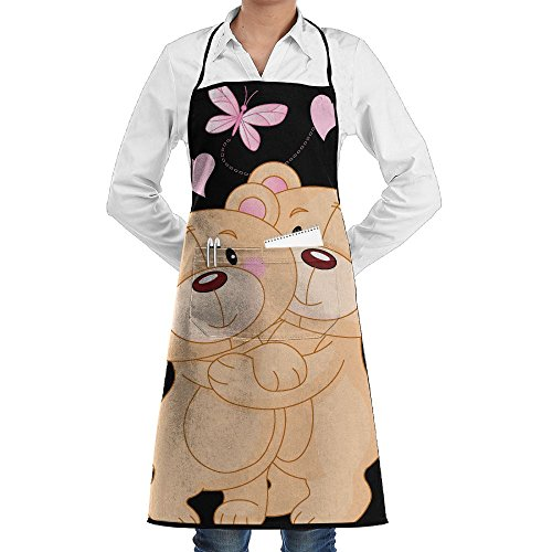 - RZ GMSC Novelty Panda Lover Valentine's Kitchen Chef Apron With Big Pockets - Chef Apron For Cooking,Baking,Crafting,Gardening And BBQ