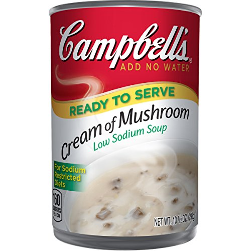 Campbell's Low Sodium Soup, Cream of Mushroom, 10.5 Ounce ( 12 Ct)