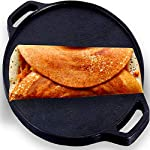 Roston Cast Iron Dosa Tawa | Cookware Vessel Pre Seasoned with Skillset Flat Dosaa Pan | Ideal for Cooking Dose Chapati…