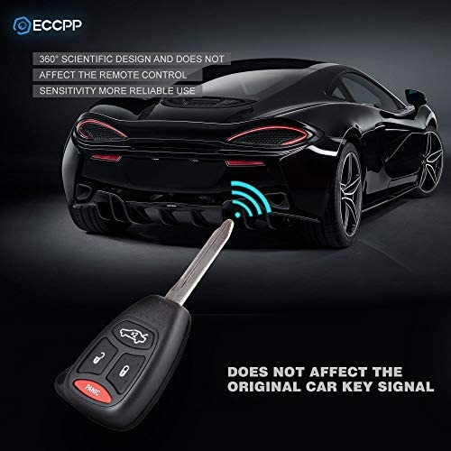 ECCPP Replacement fit for Uncut Keyless Entry Remote Control Car Key Fob Shell Case Chrysler Dodge Jeep Series HT692427AA Pack of 2