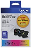 Brother Printer Innobella LC1013PKS LC101 3pack Standard Yield Color Ink (2 Pack)