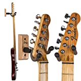 String Swing Wall Mount Guitar Holder for Electric Acoustic and Bass Guitars ? Stand Accessories for Home or Studio - Keeps Musical Instruments Safe without Hard Cases - CC01K-O3 Oak (3 Pack)