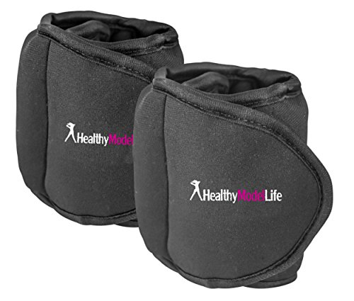 Ankle-Weights-Set-by-Healthy-Model-Life-2x5lbs-Cuffs-10lb-in-total-Train-Like-A-Model-At-Home-Workout-Equipment-for-Slimming-Thighs-Toning-Glutes-More