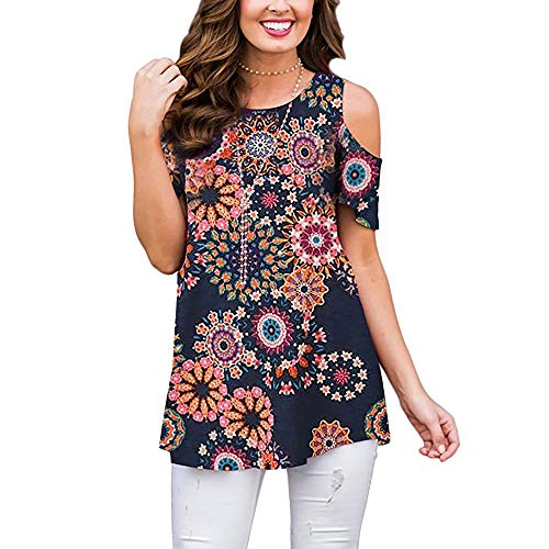 Women's Shirts and Blouses Short Sleeve Button Up Tunic Tops