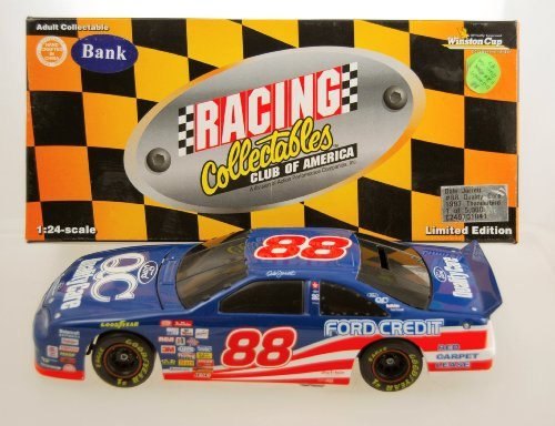 (1997 - Action - RCCA - NASCAR - Dale Jarrett #88 - Ford Quality Care - Ford Thunderbird - Collectible Bank - 1:24 Scale Die Cast - 1of 5,000 - Limited Edition - Collectible - Rare)