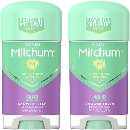 Anti Free Perspirant Alcohol Gel - Mitchum Advanced Women Gel Anti-Perspirant & Deodorant, Shower Fresh 2.25 Ounces each (Value Pack of 2)