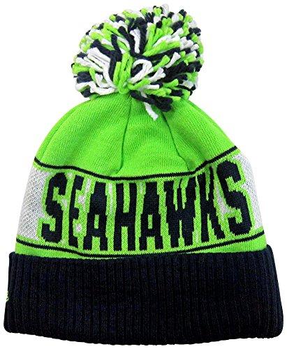 Seattle Seahawks Rep Ur Team Cuff Pom Knit Beanie Hat / Cap