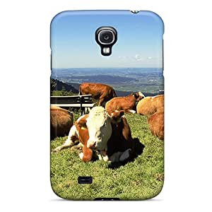 Hot Fashion DbPlggt7621oYjOJ Design Case Cover For Galaxy S4 Protective Case (summer Cows)