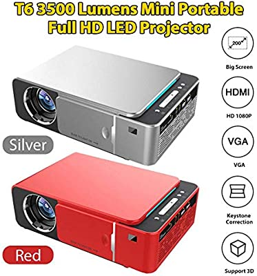 Euopat Proyector, Proyector 1080P, T6 Full HD LED Proyector 4k ...