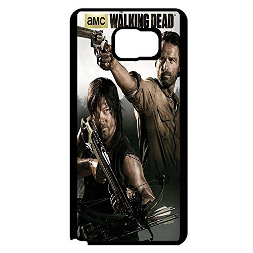 Coque Samsung Galaxy Note 5 Cover Shell Cool Rick Grimes Design Horror Zombies TV The Walking Dead Phone Case Cover Hipster Weird,Cas De Téléphone