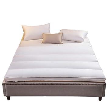 ASDFGH Ultra Soft Que Primeros del colchón, Relleno de Terciopelo de Plumas Colchones de futon de Piso Colchón Tatami Futon colchón Hipoalergénico-Blanco ...