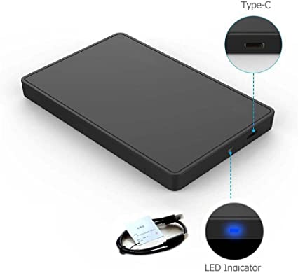 BLESYS Tipo C USB 3.0 2.5 Caja para Disco Duro Externo 2.5 Carcasa ...