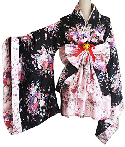 Annymall Cosplay Halloween Fancy Dress Japanese Kimono Costume for Women Girls (Aztec Tribe Costume)