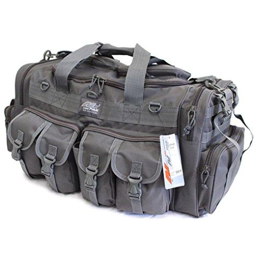 "NPUSA Mens Large 30"" Inch Gunmetal Grey Duffel Duffle Military Molle Tactical Cargo Gear Shoulder Bag …"