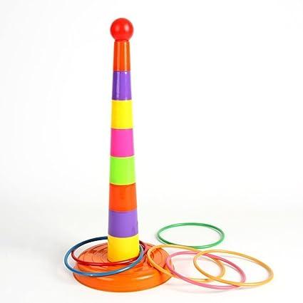 Juego de lanzamiento de anillas NUOLUX. Juguete deportivo de plástico para que adultos o niños