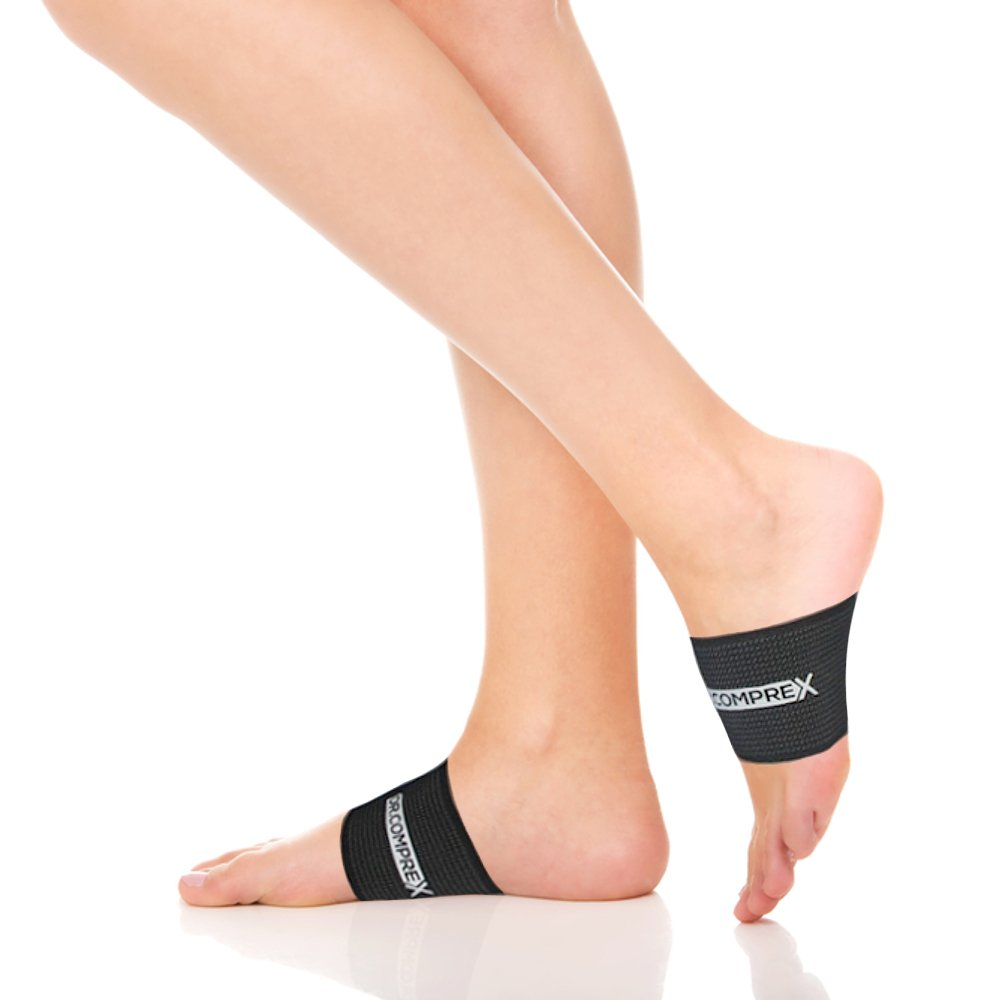Dr.Comprex - Arch Support Compression Sleeve, 2 Plantar Fascitiis Braces for Flat Feet, Heel Spurs & Low Arch - with Guarantee