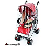 Aeroway® Universal Clear Waterproof Rain Cover Wind Shield Fit Most Strollers Pushchairs