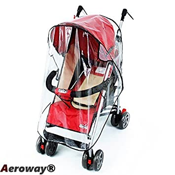 Aeroway® Universal Clear Waterproof Rain Cover Wind Shield Fit Most Strollers Pushchairs  sc 1 st  Amazon.com & Amazon.com : Aeroway® Universal Clear Waterproof Rain Cover Wind ...