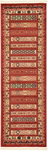 Modern Collection Runner - Unique Loom Fars Collection Tribal Modern Casual Rust Red Runner Rug (2' 0 x 6' 0)