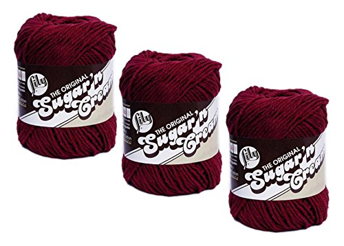 - Sugar'N Cream Yarn - Solids-Wine