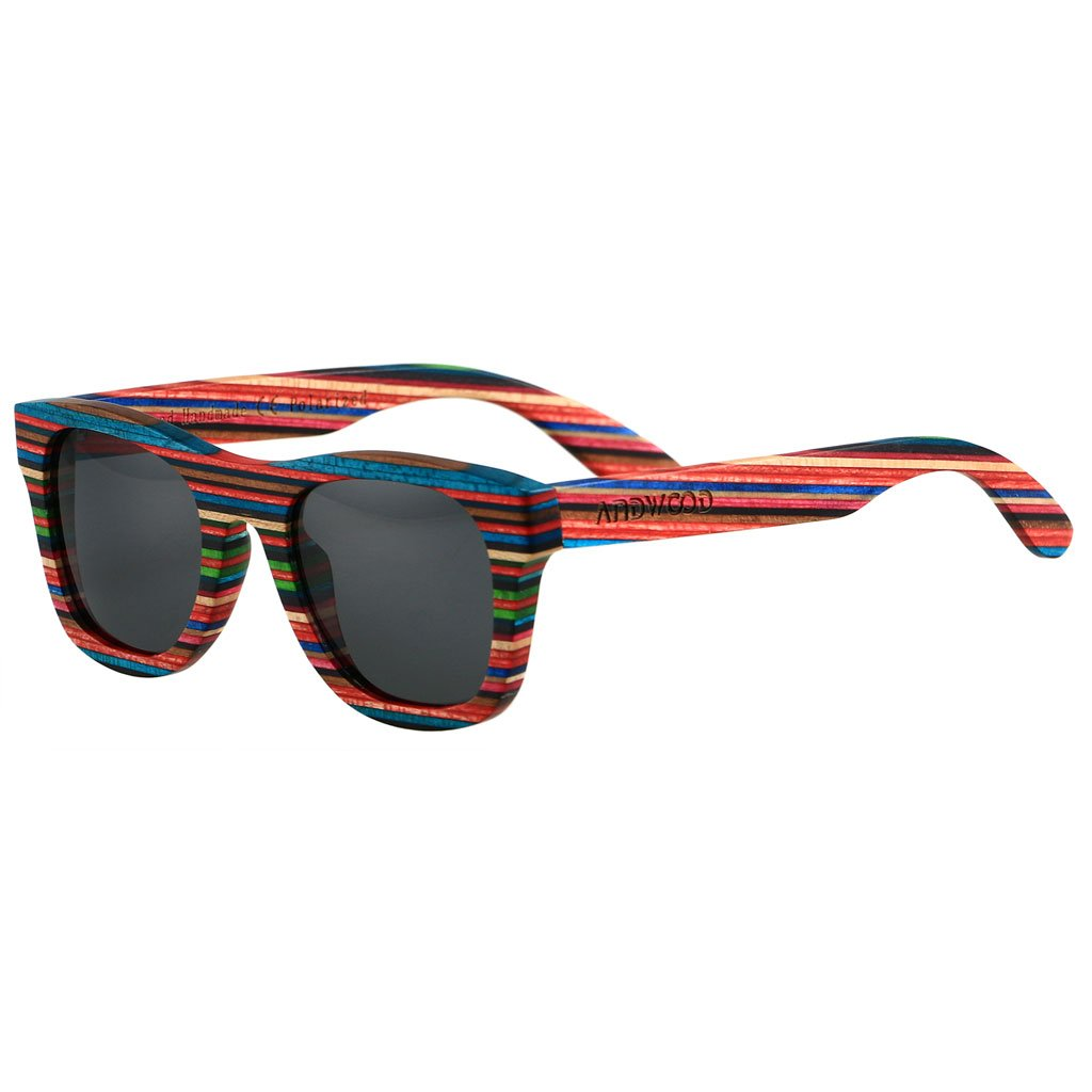 ANDWOOD Real wood Float Sunglasses for women Black Polarized Lens A Perfect Gift