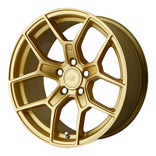 MOTEGI MR133 Wheel with Gold and Chromium (hexavalent compounds) (18 x 8.5 inches /5 x 72 mm, 45 mm Offset)