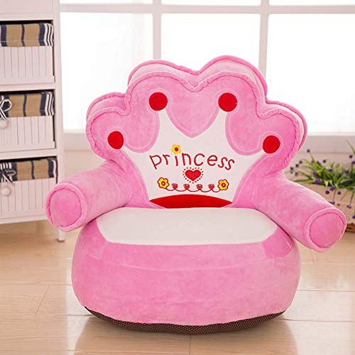 (WAYERTY Children Sofa, Kid Sofa Mini Cartoon Baby seat Boy and Girl Single Lazy Reading Upholstered Bedroom Kid Chair-Pink 40x50cm(16x20inch))