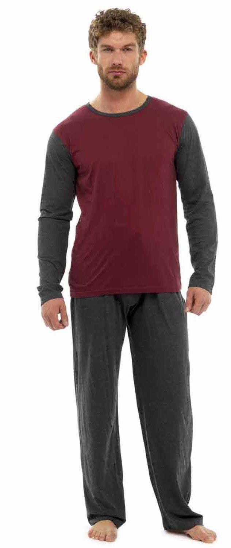 Tom Franks Mens Jersey Cotton Two Tone Pyjamas Lounge Wear