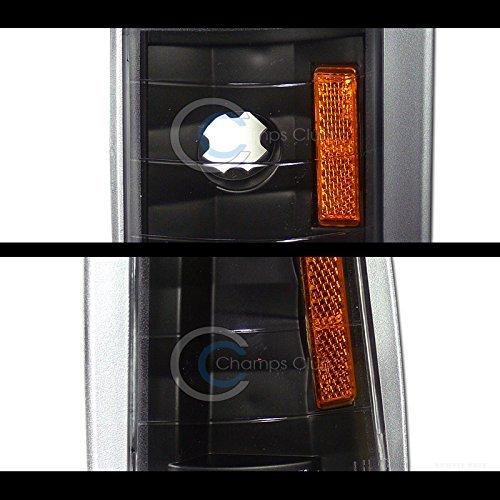 R/&L Racing Black Parking Corner Lights Amber Signal Lamps K2 1994-2000 for GMC C10 Ck C//K Pickup//Suv